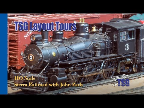HO Scale DCC Layout Tour John Zach's Proto-Freelance Sierra Railroad '55
