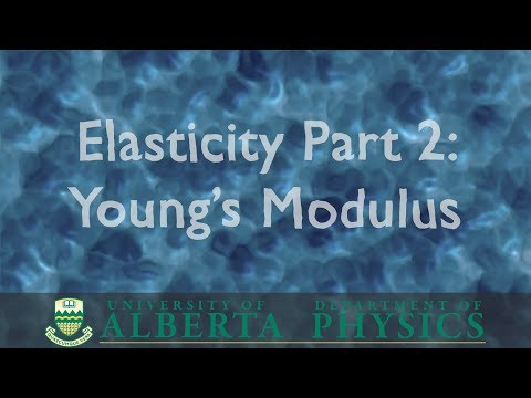 PHYS 146 Elasticity part 2: Young's Modulus