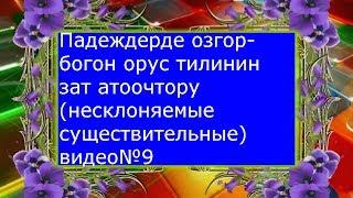 Падеждерде озгорбогон орус тилинин зат атоочтору(несклоняемые имена существительные)