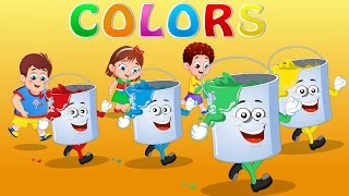 Colors Rhymes For Children | FlickBox Nursery Song for Kids | Learn Colours for Toddlers
