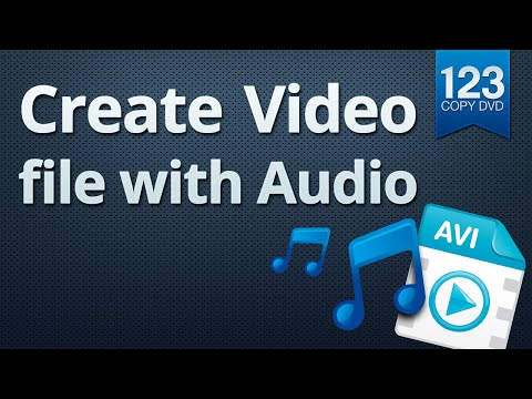 123 Copy DVD - Create a video file with audio