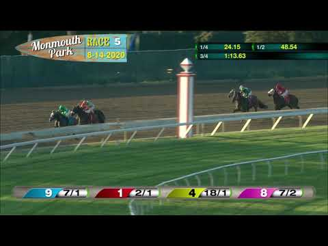video thumbnail for MONMOUTH PARK 08-14-20 RACE 5