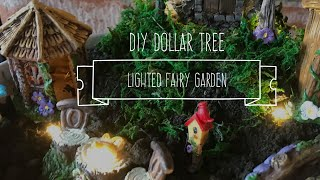 DIY Dollar Tree Lighted Fairy Garden