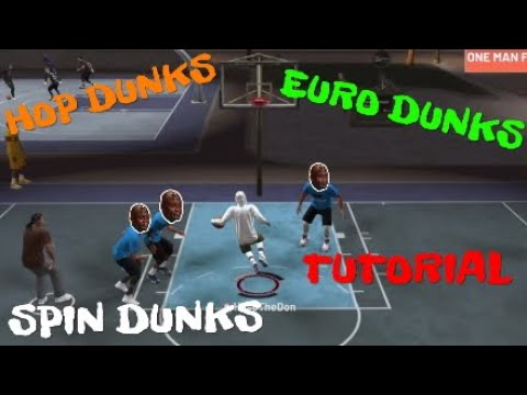 NBA 2K19-HOW TO DO EURO, HOP, SPIN DUNKS 🧀🔥