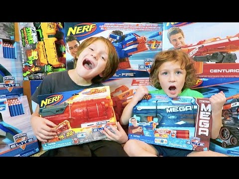 Thumbnail: Nerf War: Shopping for Nerf Guns, Ice Cream, Messy House, First BeAHero Family Vlog