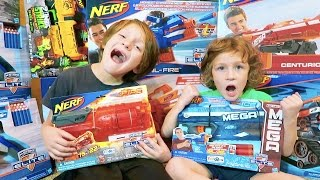 One of BeAHeroKids's most viewed videos: Shopping for Nerf blasters, Ice Cream, Messy House, First BeAHero Family Vlog