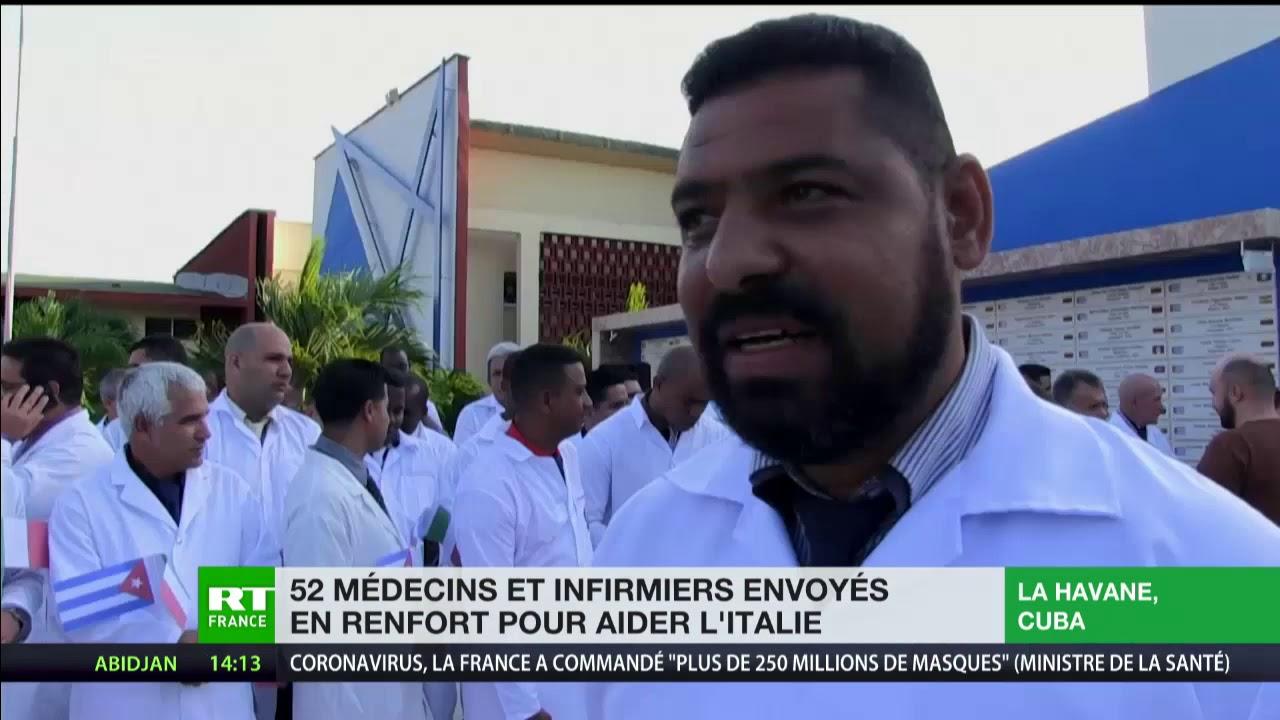 Médecins, infirmiers, matériel : la Russie et Cuba viennent en aide à l'Italie face au coronavi