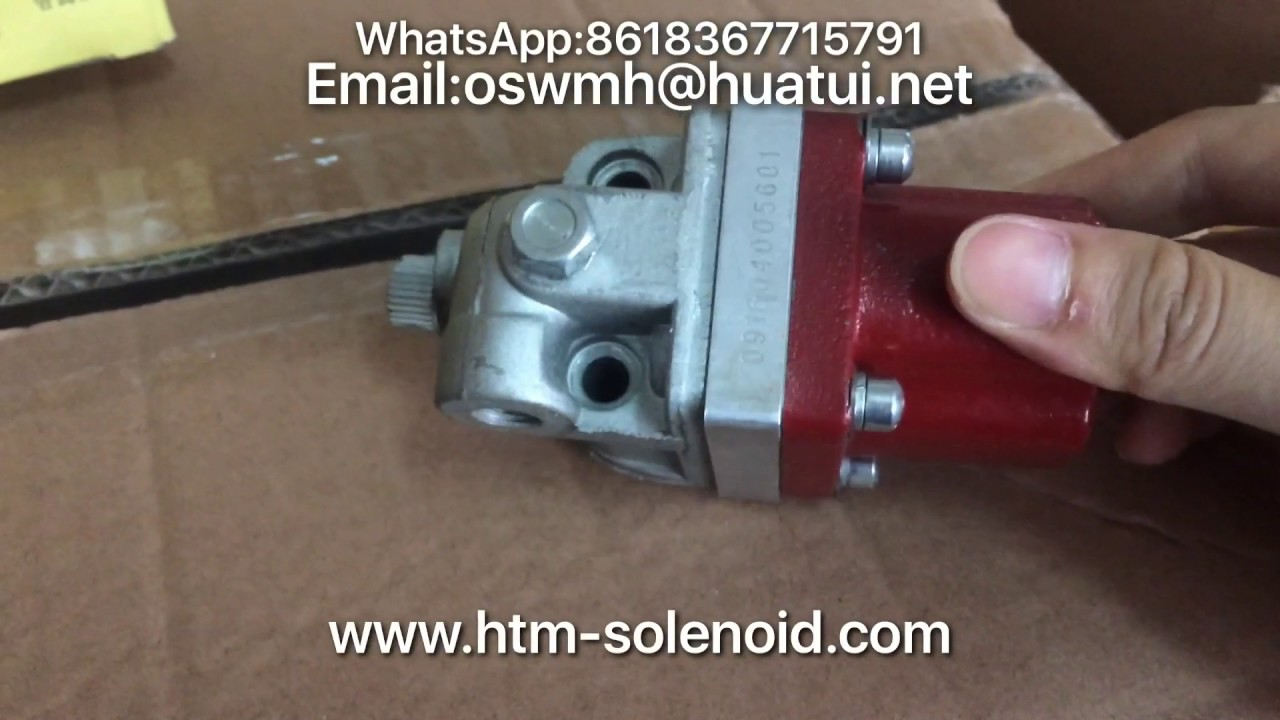 fuel shutoff solenoid valve 3035344 for cummins nta855 m11 engine 24v [ 1280 x 720 Pixel ]
