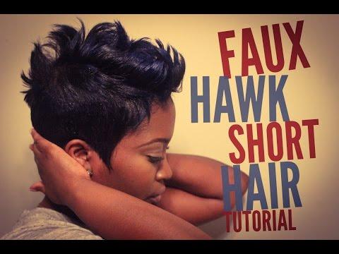 Faux Hawk Short Hair Tutorial