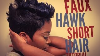 Faux Hawk Short Hair Tutorial