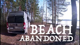 Living free in a CAMPER I Abandoned beach