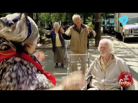Funny Senior Prank How Long it Takes Elderly to Cross the Street