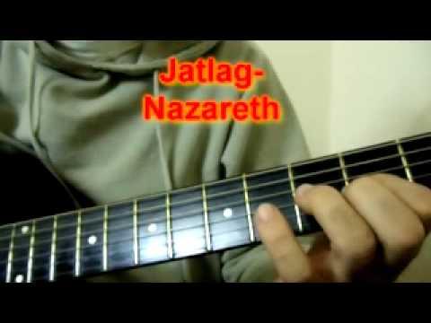 How to play Nazareth `Jet lag`  guitar intro