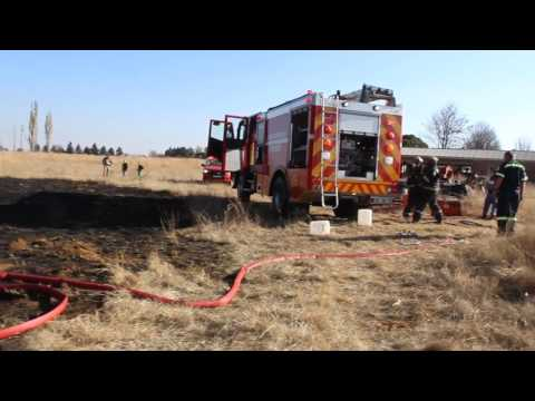 Fire on farm, Middelburg