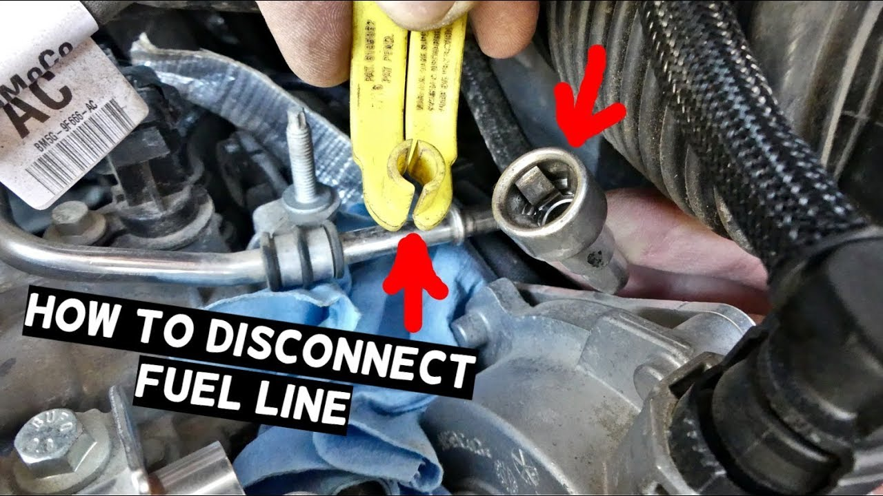 HOW TO DISCONNECT FUEL LINE FUEL LINE DISCONNECT TOOL