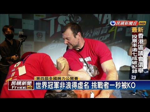 腕力公開賽登場 世界冠軍一秒KO挑戰者-民視新聞