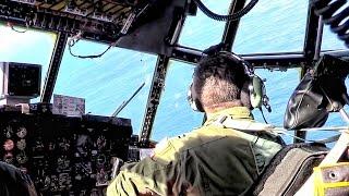 C-130 Inflight Cargo Bay & Cockpit View • The Hercules