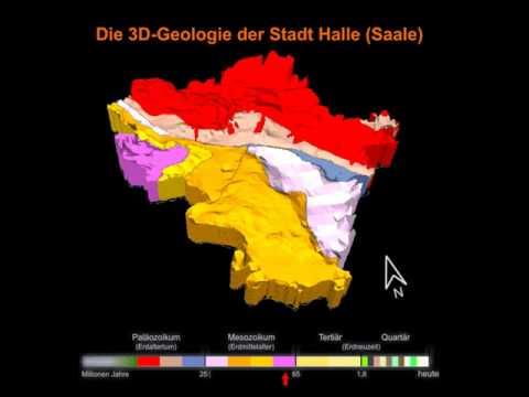 Geological 3d model Halle (Saale) City, Germany   www.3d-geology.de