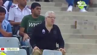 رد فعل  مرتضي منصور في مباراة الزمالك والقادسية الكويتي