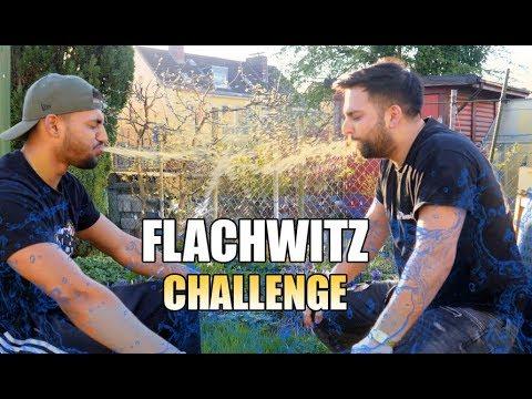 FLACHWITZ CHALLENGE !! (Wasserschlacht) 😱   Good Life Crew
