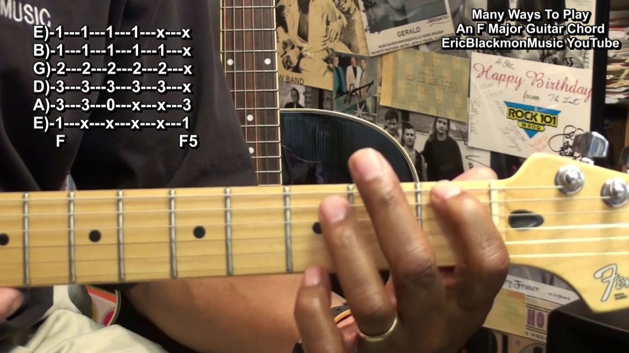 How To Play An F Major Chord 12 Different Ways On Guitar