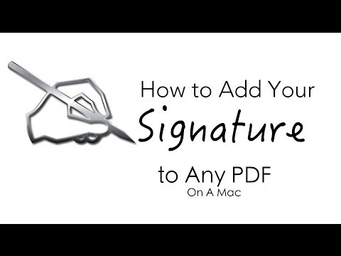 How To Add You Signature To Any PDF Document (On The Mac)