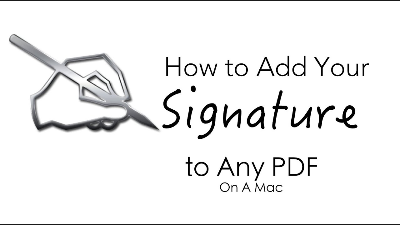 How to Add You Signature to Any PDF Document (On the Mac