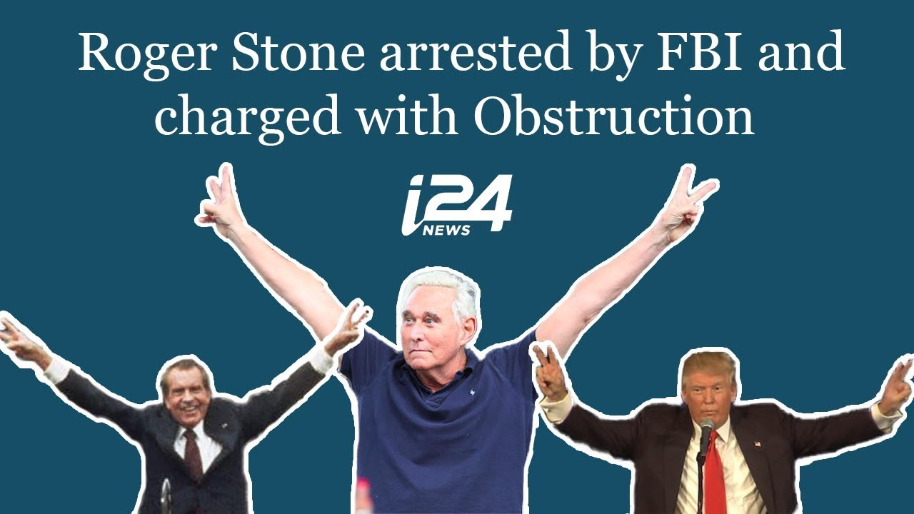i24News: Roger Stone arrested by FBI and charged with Obstruction