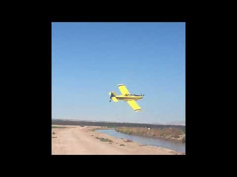 Crop dusting Texas Pima cotton