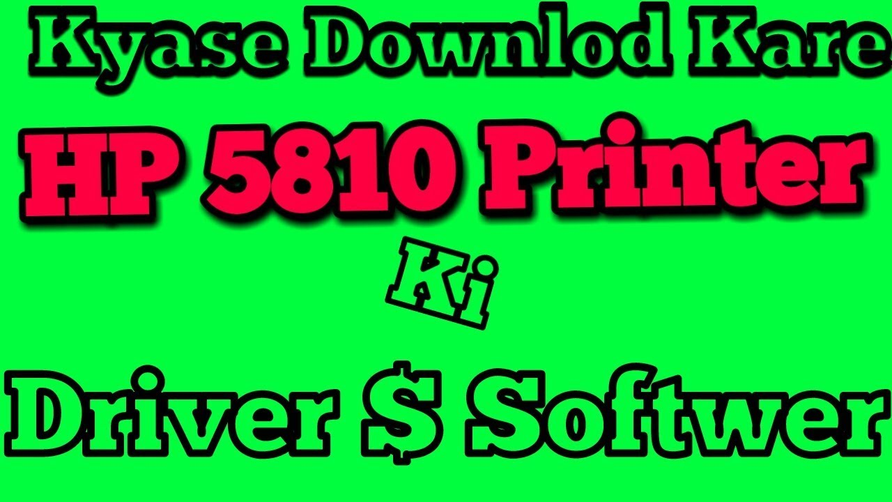 how to Download HP DeskJet GT 5810 All-in-One Printer series - Driver  Downloads new 2018