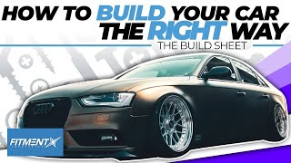 How to Build Your Car the Right Way   The Build Sheet