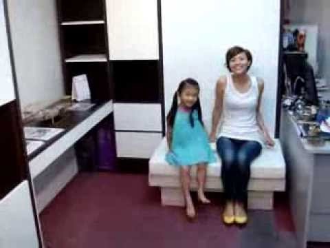 V2.HWB-MUTI PURPOSE CUSHION BENCH or SOFA infront HiddenWallBed:Bench-Sofa-CoffeeTable-kid'sTable