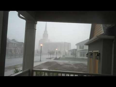 LDS temple lightning strike