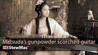 Michi Matsuda's gunpowder scorched guitar