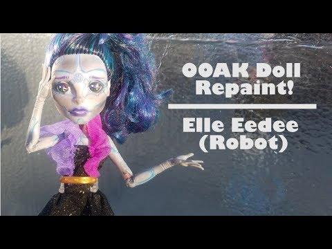 OOAK custom doll repaint - robot / Elle Eedee