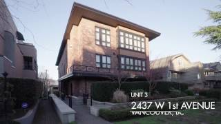 #3 2437 West 1st Ave, Vancouver - First Avenue Mews - For Sale