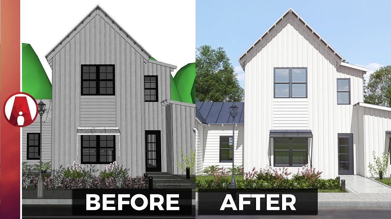 10 Tips for a REALISTIC EXTERIOR Rendering | Vray for Sketchup