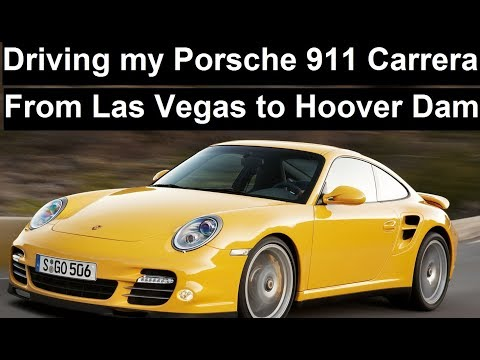 Driving my porsche 911 Carrera from Las Vegas to Hoover Dam with relaxing music