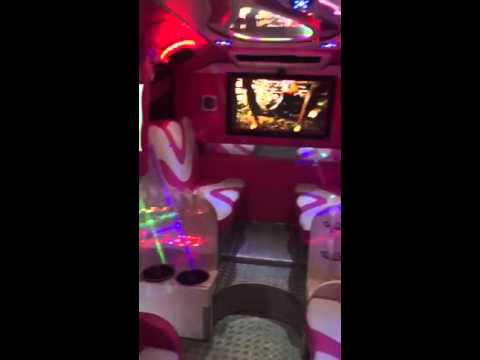 Pink party bus hire - Herts Limos