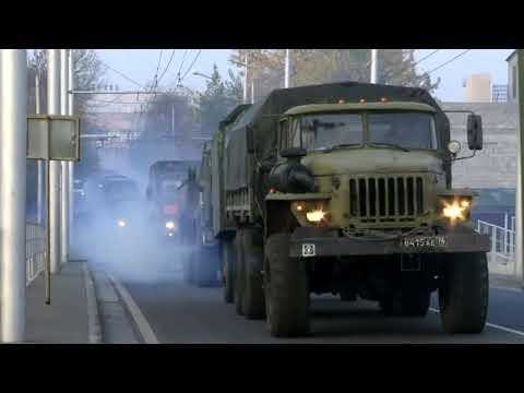 Подразделения миротворческой бригады продолжают совершать марши из Еревана в Степанакерт