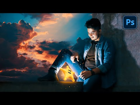Hindi Photoshop Tutorial | Glowing Star | Calop Style Photo Editing In Photoshop | Edit Like Calop