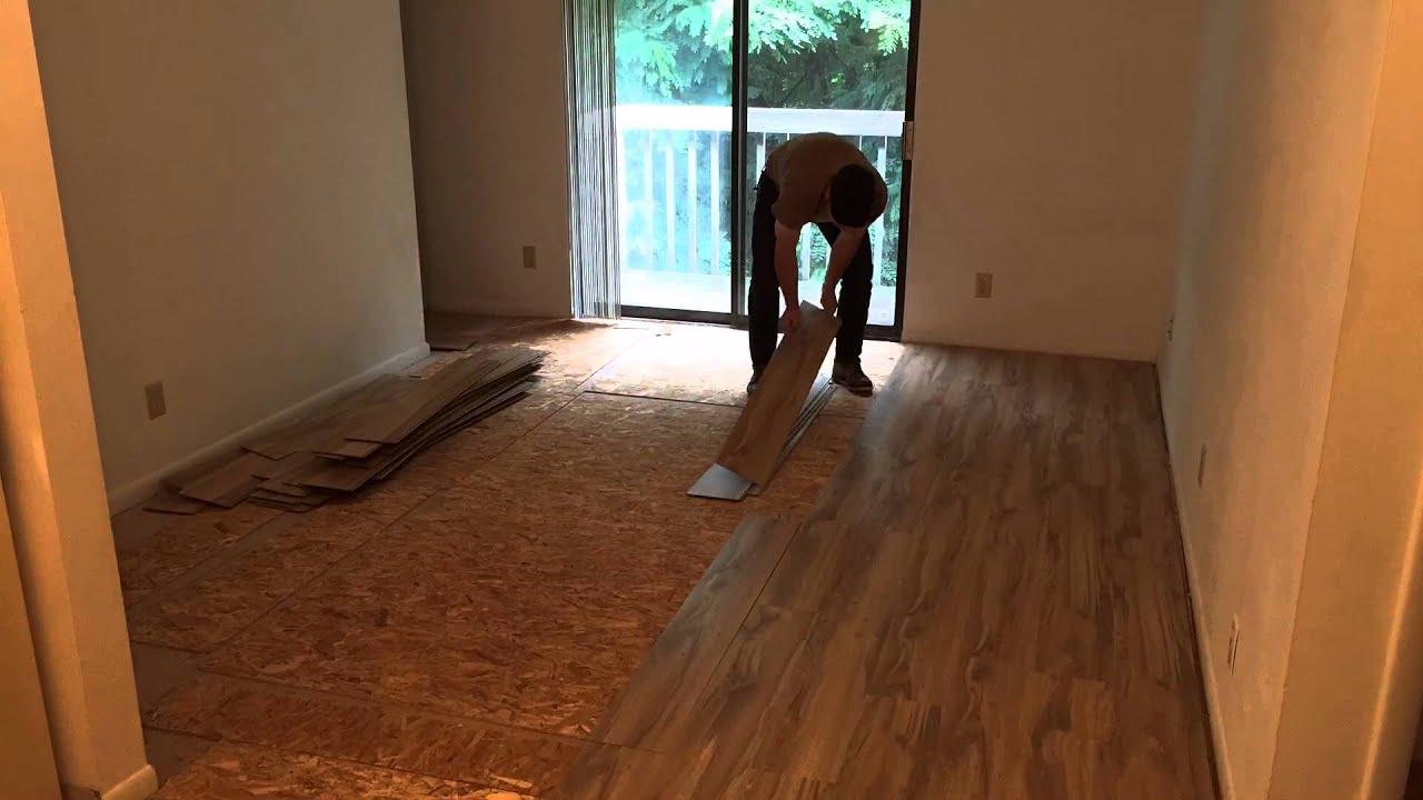 How To Install Laminate Flooring Over Vinyl Tile  Skill