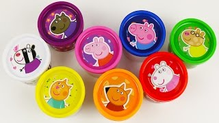 Learn Colours With Peppa Pig Play Doh Cans Surprise! Fun Toys colors Lesson! thumbnail