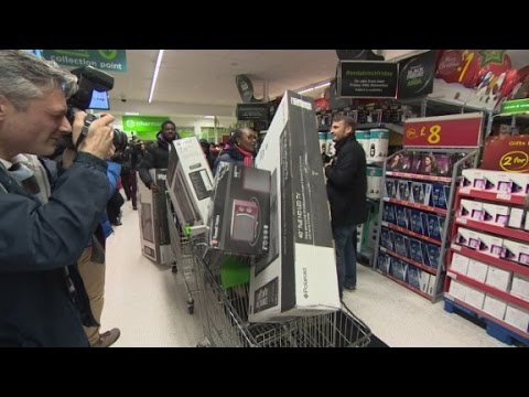 Black Friday shopping invades British stores