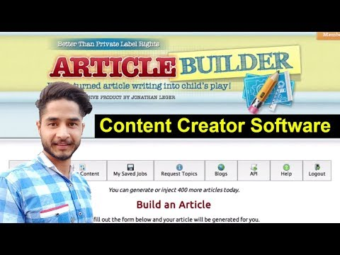 SEO - Part 81 - Article Builder | Best Article Writer Software: How To Create Unique Content
