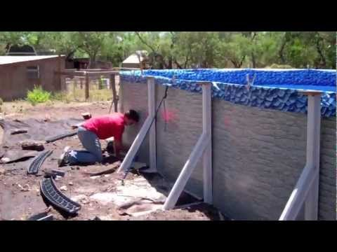Building an above ground pool in 3 minutes youtube - How to build an above ground swimming pool ...