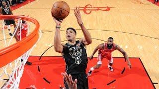 Giannis Antetokounmpo 27 Points & 21 Rebounds vs Rockets | 1.9.19