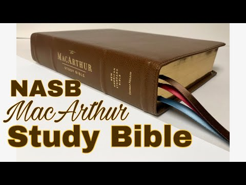 NASB MacArthur Study Bible Review 2nd Edition Brown Goatskin