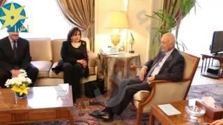 بالفيديو: الدكتور نبيل العربى يلتقى مع لأمين العام المساعد للأمم المتحدة للبرنامج الإنمائي