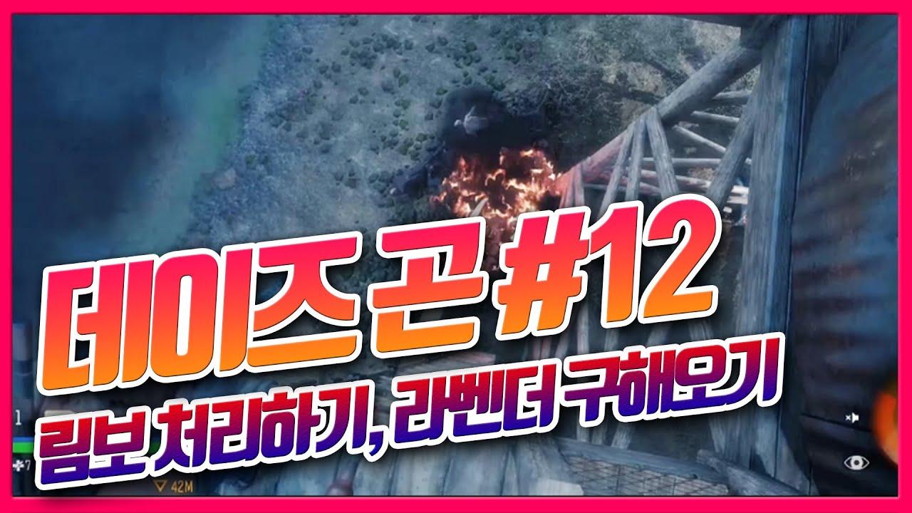 데이즈곤 공략 스토리 #12 ( 림보 처리하기, 라벤더 구해오기 )좀비, 플스4 게임